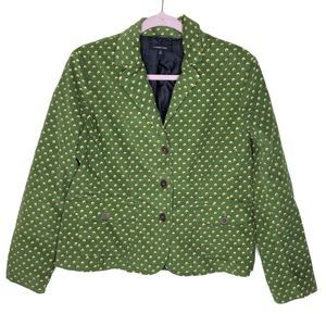 Lands End corduroy floral blazer